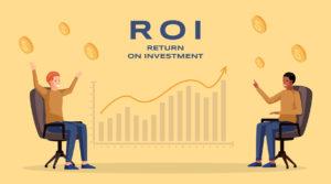 Return on investment banner, ROI