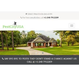 PestcityUSA Mobile view