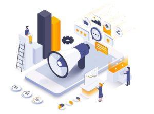 Flat color Modern Isometric Illustration design - Digital Market